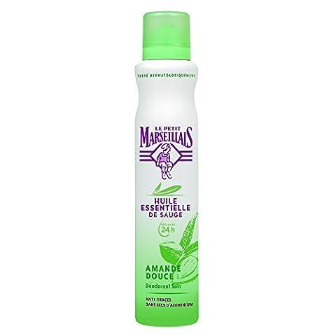 Le Petit Marseillais Déodorant Spray 24h Sauge & Amande Douce 200 ml - Lot de 2