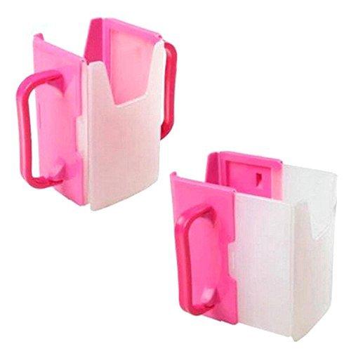 yhcean Kids self-helper Drink Saft Milch Beutel Box Hand Halter Becher (Rose Rot)
