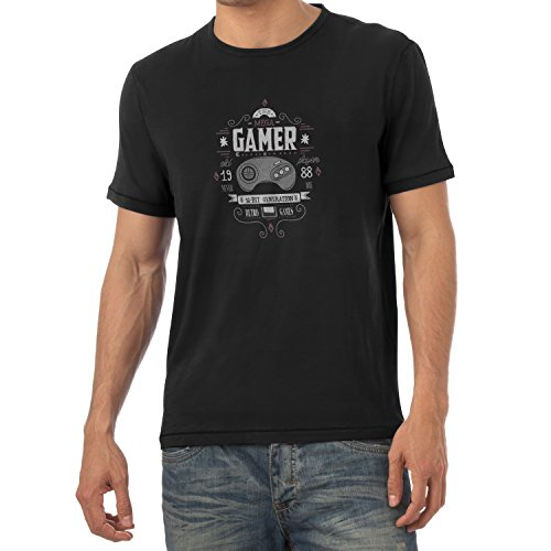 Texlab The Mega Gamer - Herren T-Shirt, Größe L, Schwarz Wonderboy-shirts