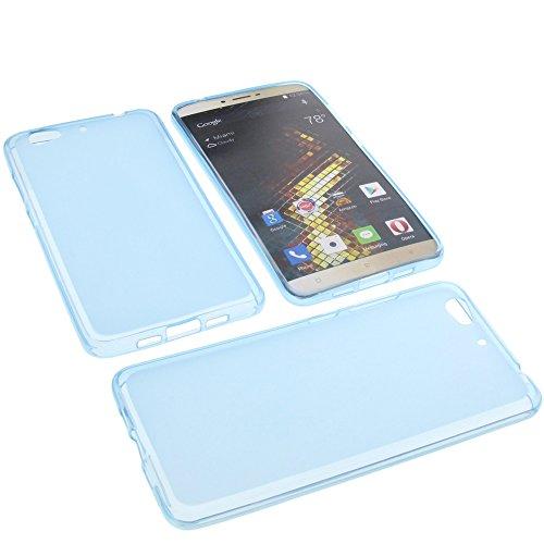 foto-kontor Tasche für Blu Vivo 5 Gummi TPU Schutz Handytasche blau