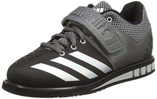 adidas Powerlift.3, Chaussures Multisport Indoor Homme, Gris (Cblack/Silvmt/Ironmt), 43 1/3 EU