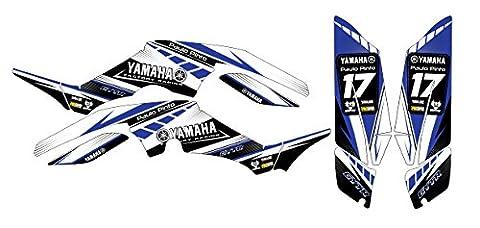 Yamaha Raptor 350Classic B NEW Aufkleber Aufkleber Kit in MX Vinyl (nicht Oem)