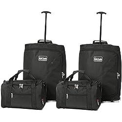 Vierteiliges Set Ryanair 55x40x20cm Maximal Größe Trolley Handgepäck Und 35x20x20 Tasche Reisetasche - Nehmen Sie beide mit!