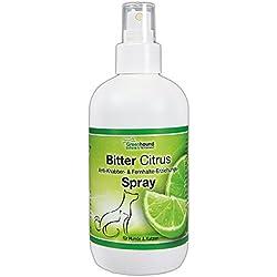 Greenhound 075107 Bitter Citrus Spray zum Verhindern des Ankauens und Abwehr Spray für Hunde und Katzen 250 ml