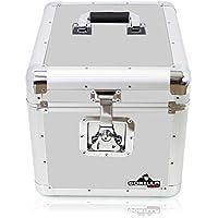 Gorilla 30,5cm vinyl LP Storage box Flight case–contiene 100pcs–argento con garanzia a vita