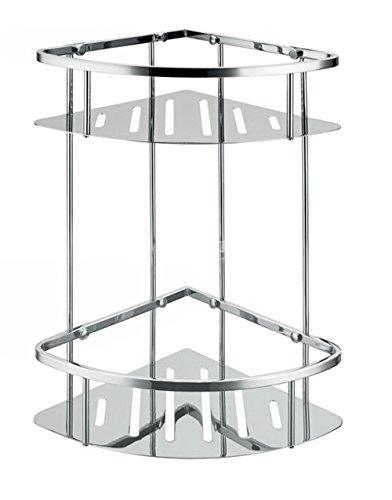 Moderno acciaio inossidabile 304 con doppia mensola triangolare bagno angolo
