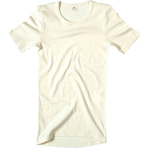 Preisvergleich Produktbild Living Crafts Herren Unterhemd 1 / 4 Arm Bio Baumwolle natur Gr. 5