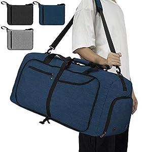 NEWHEY Reisetasche Groß 40L 65L 80L Faltbare Reisetaschen Leichte Sporttasche für männer mit Schuhfach für Weekender…