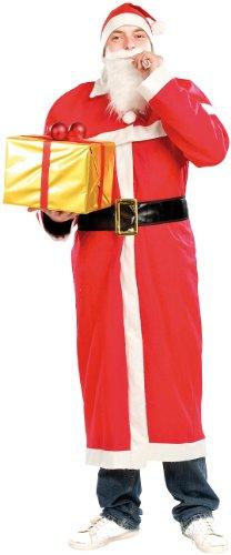 infactory Weihnachtsmannkostüm: 5-teiliges Weihnachtsmann-Kostüm Santa Claus mit Bart und Mütze Gr L (Weihnachtskostüme)