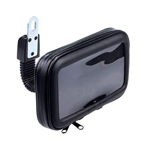 FLAMEER Motorrad Wasserdichte Handy Tasche mit Lenkerhalterung, Schwarz Tasche