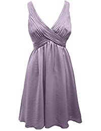 MACloth Women Straps V Neck Chiffon Long Bridesmaid Dress Wedding Party Gown (EU36, Turquesa)