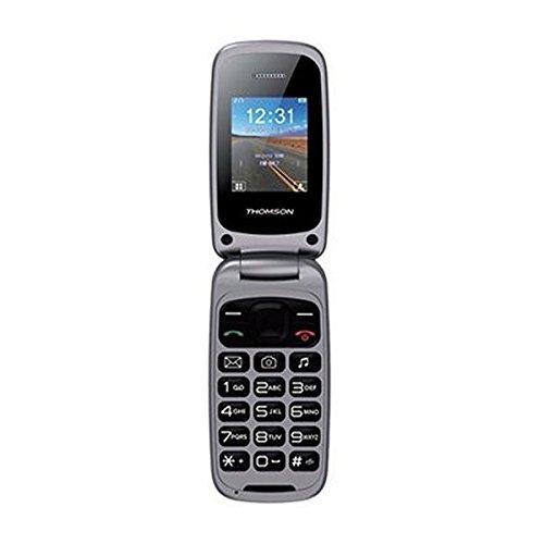 Thomson TLINK40 - Móvil Tipo Concha Dual SIM con Manos Libres, Bluetooth y Linterna LED - Plata