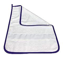 Idea Regalo - ASCIUGAMANO FRED ASILO bordato in TINTA UNITA con tela AIDA per ricamare il nome - Blu