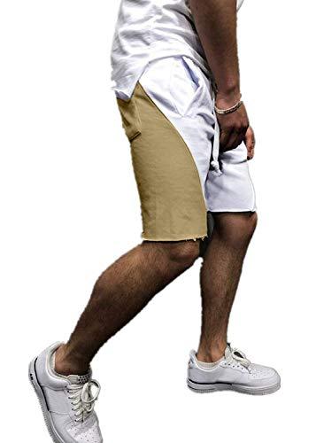 Petite Boxer-pant (GreatestPAK Herren Sommer Kurze Hosen Freizeit Sport Elastische Taille Shorts Hosen,Khaki,EU:XS(Tag:M))