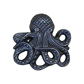 Vintage Cupboard Knob Octopus Shape Cupboard Knob Cast Antique Iron 3.0
