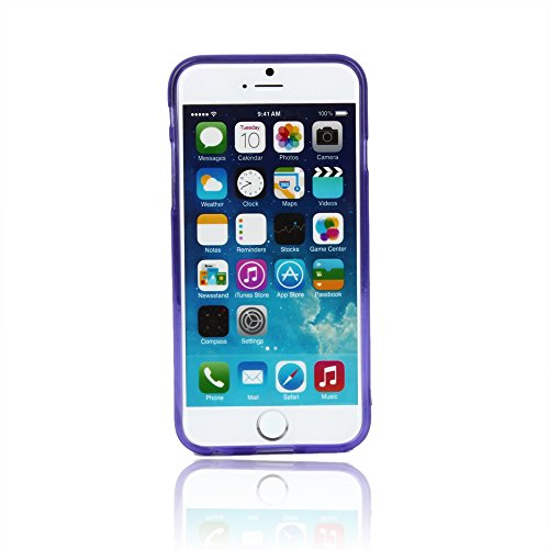 "Kit Me Out UK TPU Gel Case for Apple iPhone 6 / 6S 4.7"" Inch - Pink Frosted Pattern Violett Gefrostet"