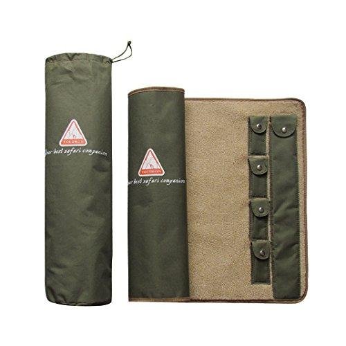 tourbon Gun Rifle nettoyage tapis enroulable de Chasse Pistolet Kit d'outils avec doublure polaire?Vert