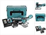 Makita DJV 181 RMJ 18 V Li-ion Akku Stichsäge im Makpac + 2x BL 1840 B 4,0 Ah Akku + DC 18 RC Ladegerät