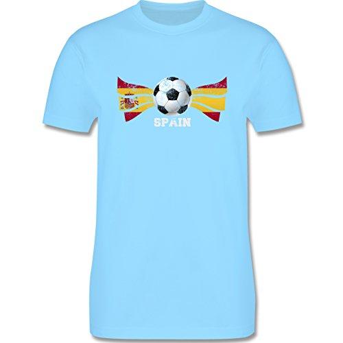 EM 2016 - Frankreich - Spain Fußball Vintage - Herren Premium T-Shirt Hellblau