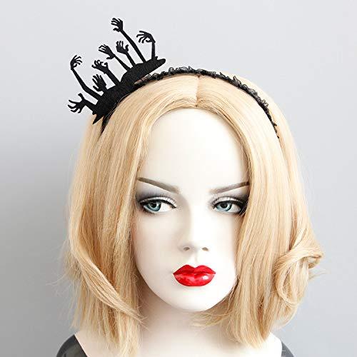 JJZHY Ghost Hand Stirnband Bühne Leistung Halloween Party Dekoration Stirnband,schwarz,Einheitsgröße