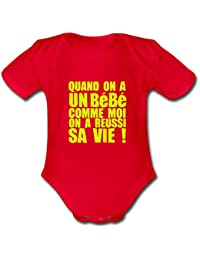 Quand On A Un Bébé... Body bébé bio manches courtes de Spreadshirt®‎