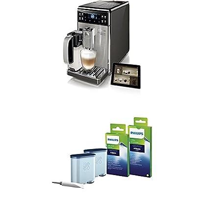 Saeco-GranBaristo-Avanti-HD897701-Kaffeevollautomat-1450-Watt-AquaClean-Appsteuerung-integrierte-Milchkaraffe-silber