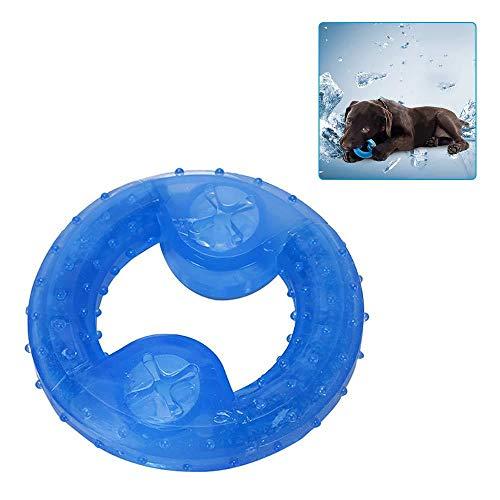 AUOKER Kühlendes Kauspielzeug, Hundeball Donuts Freeze Cooling Zahnthing Training Toy, Doggie Dental Care Rubber Bite Puzzle Spielzeug für kleine und mittelgroße Haustiere (Donut Spielzeug Für Hunde)