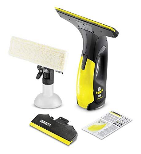 Kärcher Akku Fenstersauger WV 2 Premium (Akkulaufzeit: 35 min, 2x wechselbare Absaugdüsen - breit und schmal, Sprühflasche mit Mikrofaserbezug, Fensterreiniger-Konzentrat 20 ml)