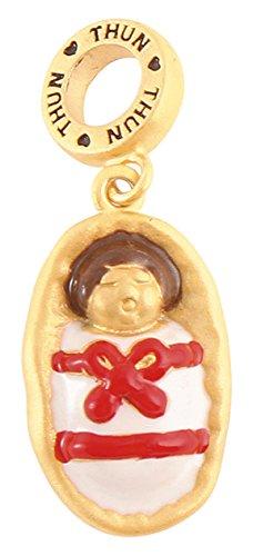 Thun my charms charm miniatures gesù bambino, ceramica, variopinto