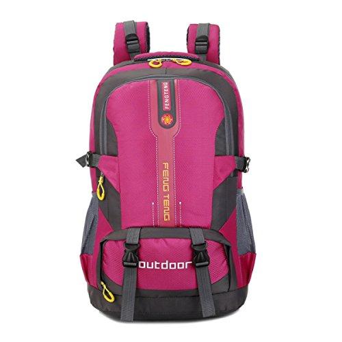 Wasserdicht Im Freien Rucksack Sport Tasche 50L Große Kapazität Reise Tasche Red