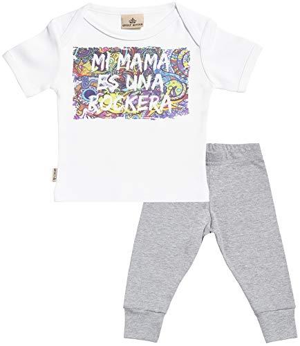 SR - Mi mamá es una rockera Regalo para bebé - Blanco Camiseta...