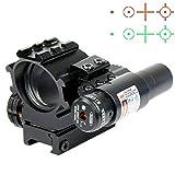 Hauska Holographique Rouge/Vert 4 Réticules Reflex viseur Point Rouge visée Laser