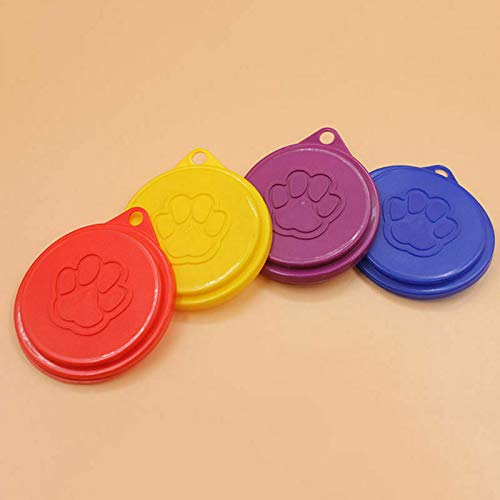 ELECTROPRIME 5 Pcs Tin Lids Food Can Covers Standard Sized Plastic Bowel Seal Dogs Cats Safe