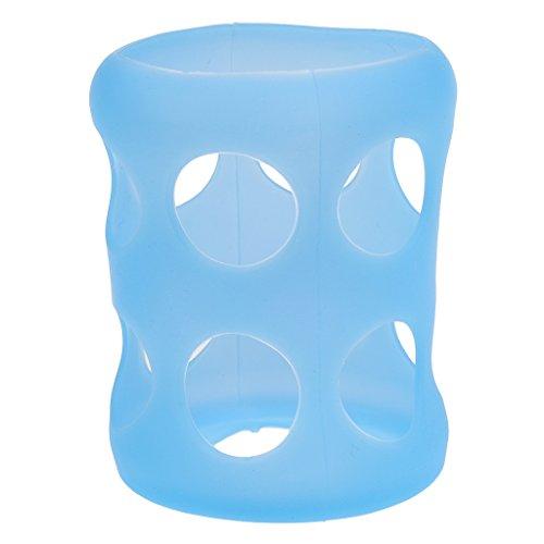 1 Pz Biberon In Vetro Custodia Protettiva In Silicone Taglia Unica 2 Colori Moda - Blu, Taglia unica