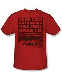 Shaun Of The Dead - T-shirt Liste des hommes en rouge -