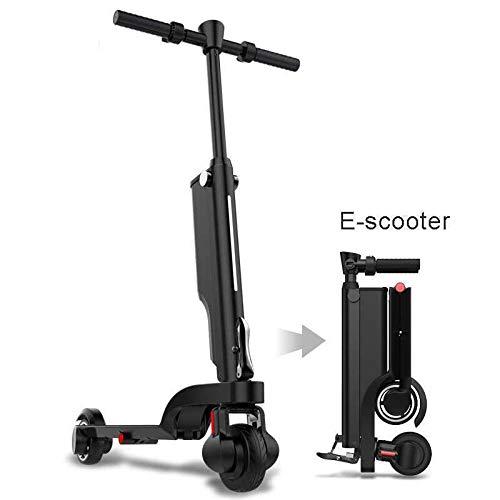 URCAR Intelligenter Elektro Scooter elektrischer Faltbarer Roller 2 Räder E-Roller 250W Motor 25Km/h Rucksack Elektroscooter Fahrrad mit LCD Dashboard und USB Telefon Ladegerät,3 Speed-Modi