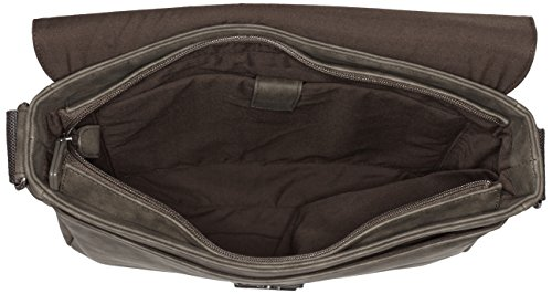s.Oliver (Bags) Herren Messenger Schultertasche, 35x27x9 cm Braun (espresso 8860)