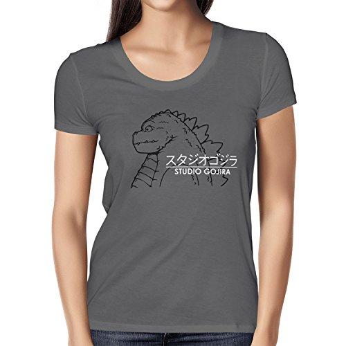 TEXLAB - Studio Gojira - Damen T-Shirt, Größe M, grau