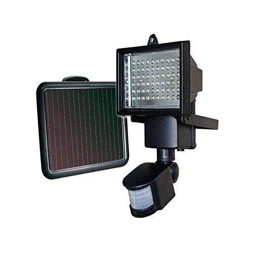 Außen Solarlampe mit Bewegungsmelder 60 LEDs Solarleuchte Gartenlampe Wandlampe [Energieklasse A+]