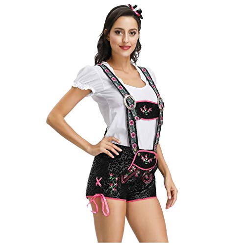 MCYs Kleider Damen Rockabilly Kleid Elegante Kleider Frauen Bier Festival Anzug Magd Kleid Bier Festival Cosplay Kostüme(Weiß,XL)