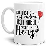 Tassendruck Liebes-Tasse Du hast, was andere Nicht haben, Mein Herz - Partner-Tasse mit Schildkröte/Pärchen / Liebe/Love / Herz/Mug / Cup/Weiss