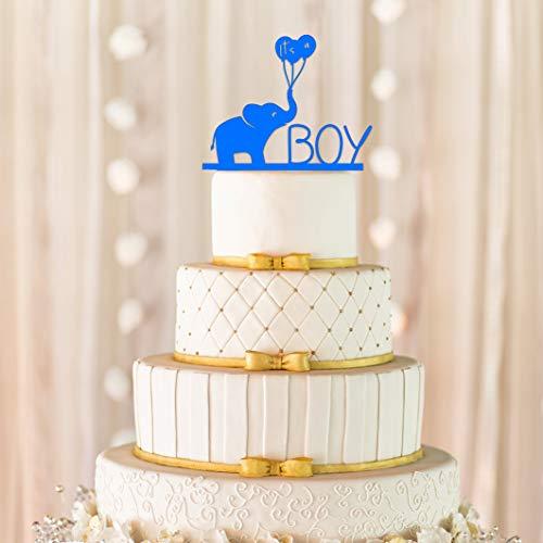 Andrea1Oliver Es ist EIN Junge Cake Topper Baby Cake Topper Baby Dusche Cake Topper Elefant Cake Topper Geschlecht offenbaren Cake Topper