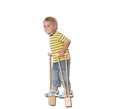 pedalo Kiddy-Stelzen aus Holz I Einsteigermodell für Kinder ab 3 Jahren I Profi-Stelze I Antirutsch Holzstelzen I