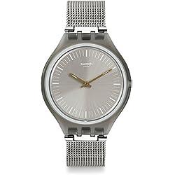 Swatch Reloj Digital de Cuarzo Unisex con Correa de Acero Inoxidable – SVOM100M