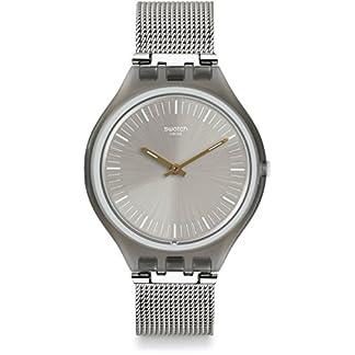 Swatch SVOM100M  –  Reloj Digital de Cuarzo, Unisex, Correa de Acero Inoxidable