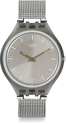 Swatch Unisex-Uhr Digital Quarz mit Edelstahlarmband - SVOM100M