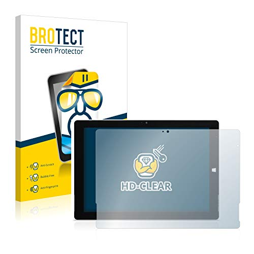 BROTECT Schutzfolie kompatibel mit Wortmann Terra Pad 1062 [2er Pack] klare Bildschirmschutz-Folie