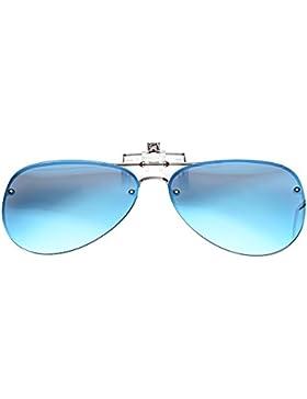 LUFF polarización clip en gafas de sol unisex, anti - Glare UV Proteccion Gafas de sol puede ser volteado apto...