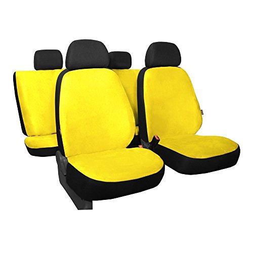 GSC Sitzbezüge Komplettset Autositzbezug Universal gelb, Gallante, kompatibel mit BMW Serie 3