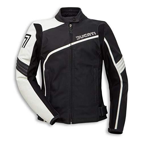 Ducati 77 Damen Lederjacke schwarz/weiß Größe 42